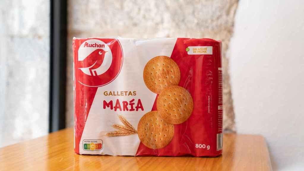 El paquete de galleta María de Auchan, la marca blanca de Alcampo.