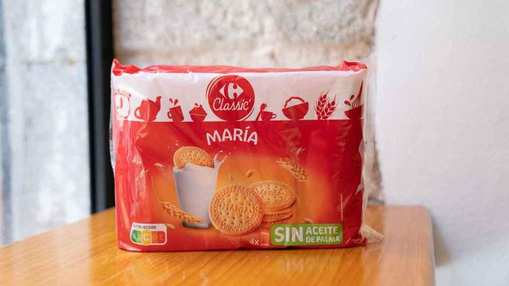 El paquete de galletas María de Carrefour.