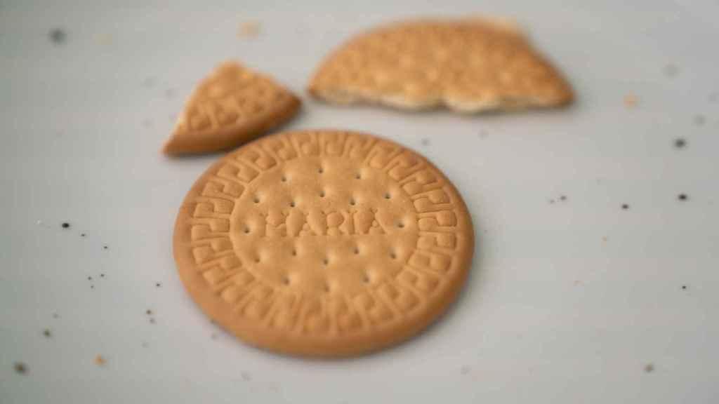 Una de las galletas María analizadas durante la cata.
