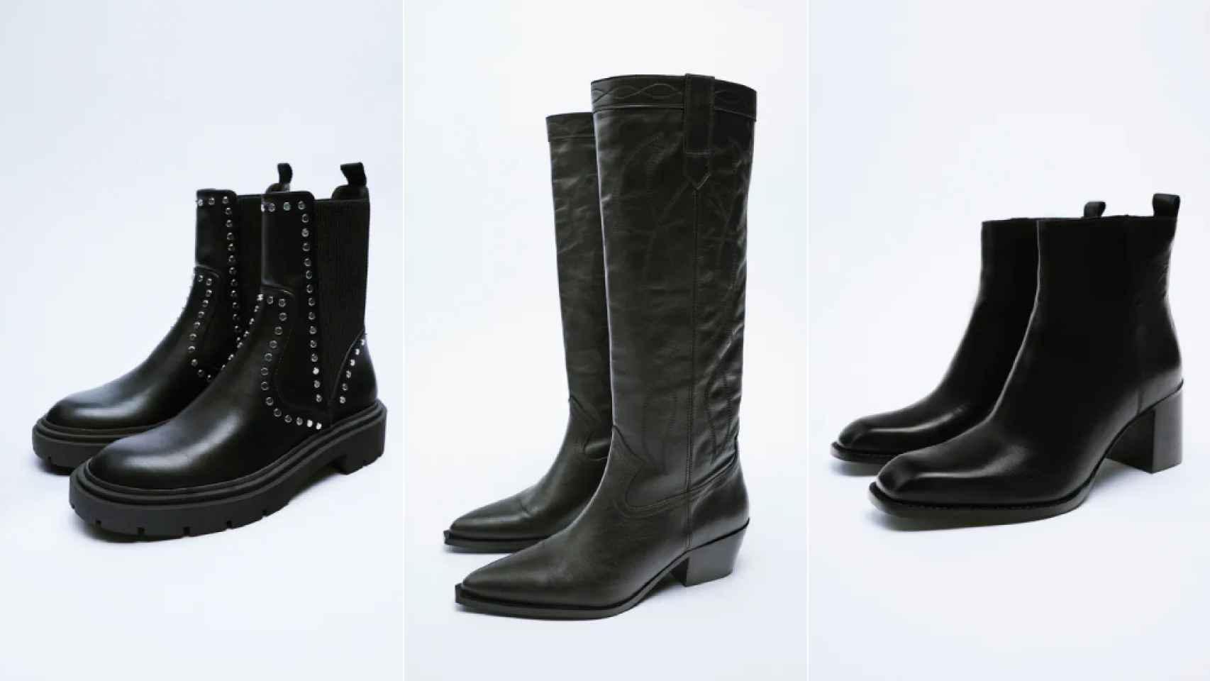 Botas negras de Zara.
