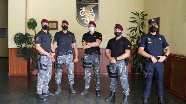 4 de los agentes del GEO y uno de la UIP que estuvieron en Kabul el pasado agosto.