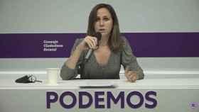 Ione Belarra, secretaria general, en su discurso ante el Consejo Ciudadano de Podemos.