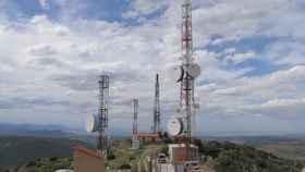 Antenas de telecomunicaciones en la provincia de Teruel.
