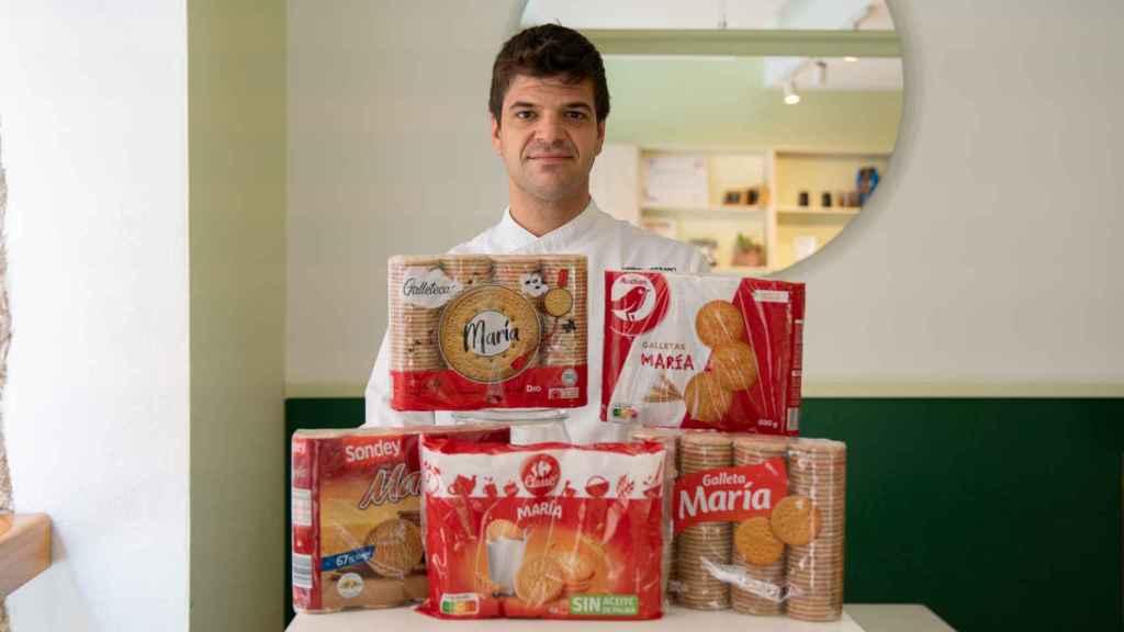 Los cinco paquetes de galletas María probados por Samuel Serrano, repostero profesional de La Barra Dulce.