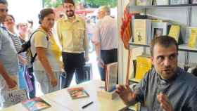 El exobispo de Solsona, Xavier Novell, en una Feria del Libro.