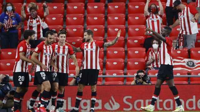El Athletic celebra su victoria ante el Mallorca