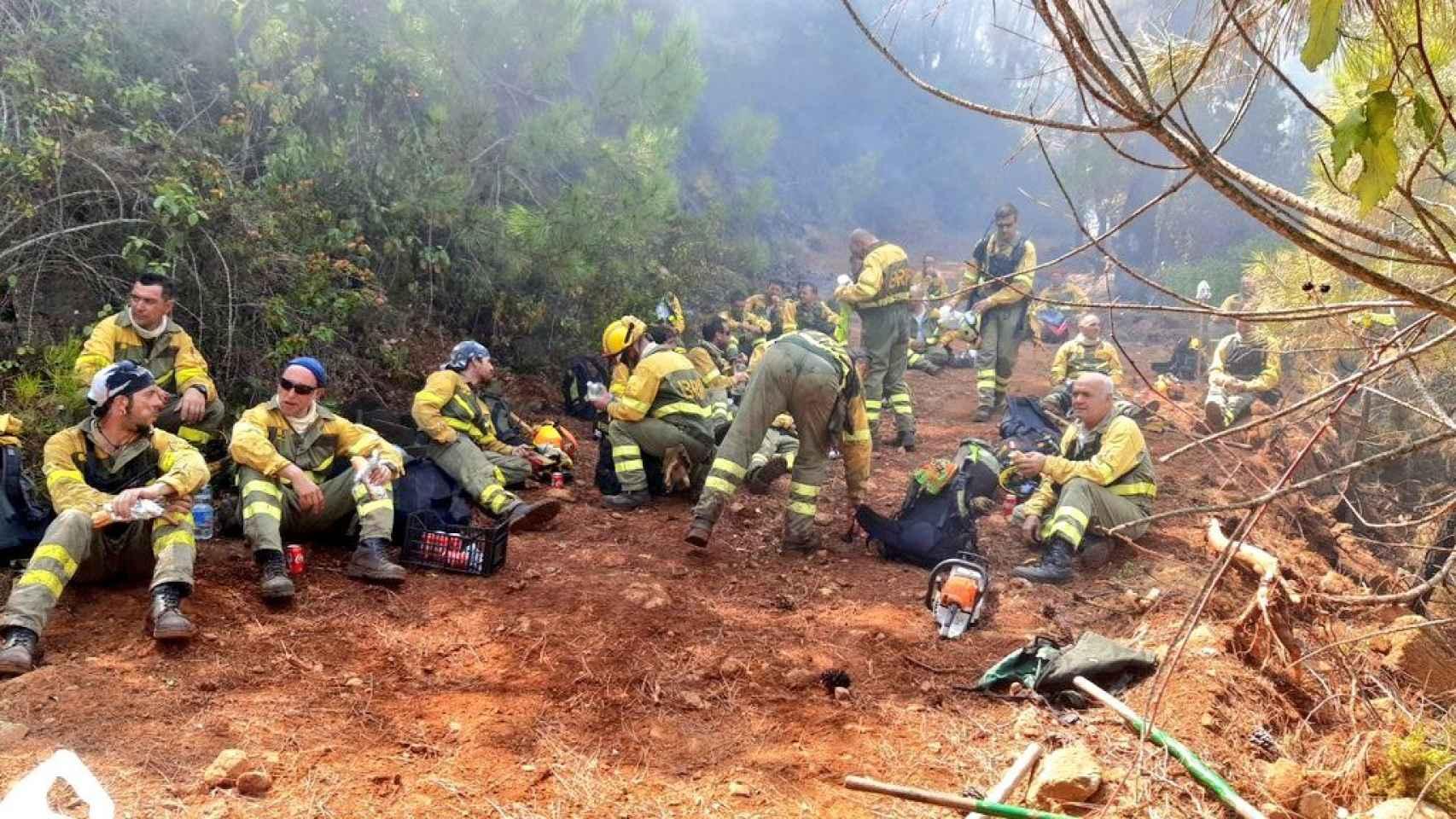 Fotos de la batalla contra el incendio de Sierra Bermeja, en Málaga.