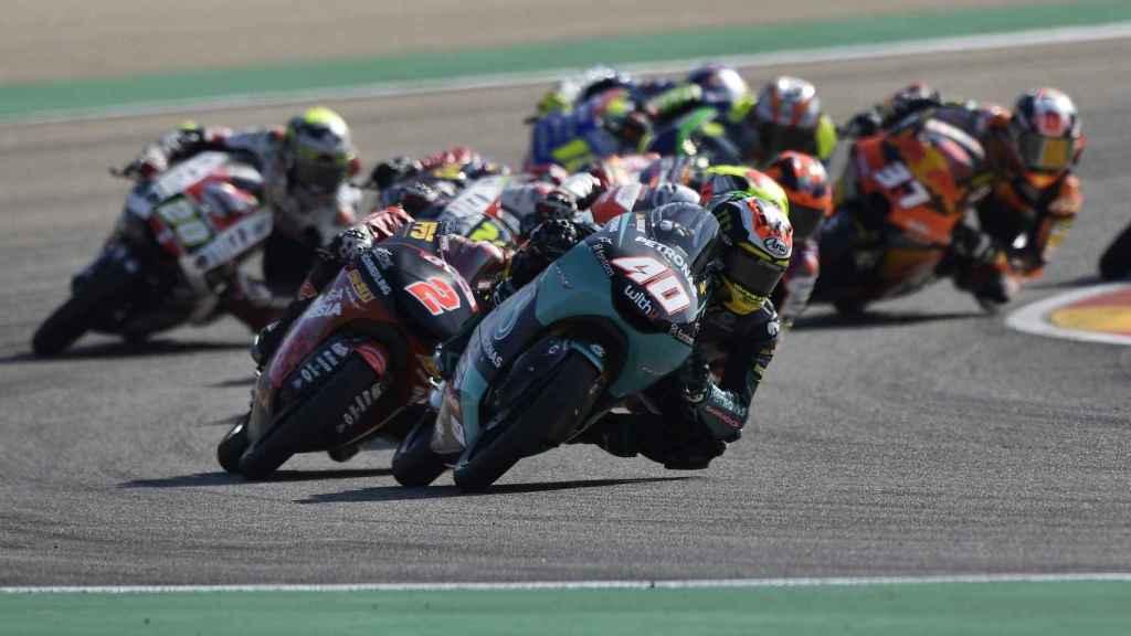 Carrera de Moto3 en el GP de Aragón
