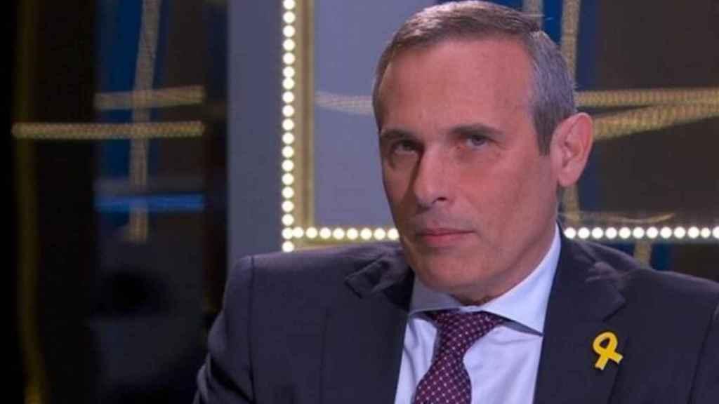 Josep Lluís Alay durante una intervención en un programa de TV3.