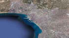 Las imágenes por satélite retratan la evolución urbana de Alicante.