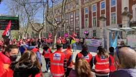 Archivo - Imagen de archivo de una concentración de Técnicos en Emergencias Sanitarias ante la Consejería de Sanidad en Valladolid.
