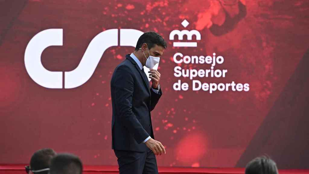 Pedro Sánchez durante el acto del CSD para reconocer a los deportistas olímpicos y paralímpicos