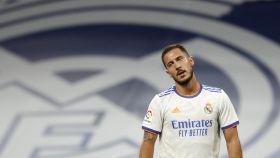 Eden Hazard, durante el partido frente al Celta de Vigo