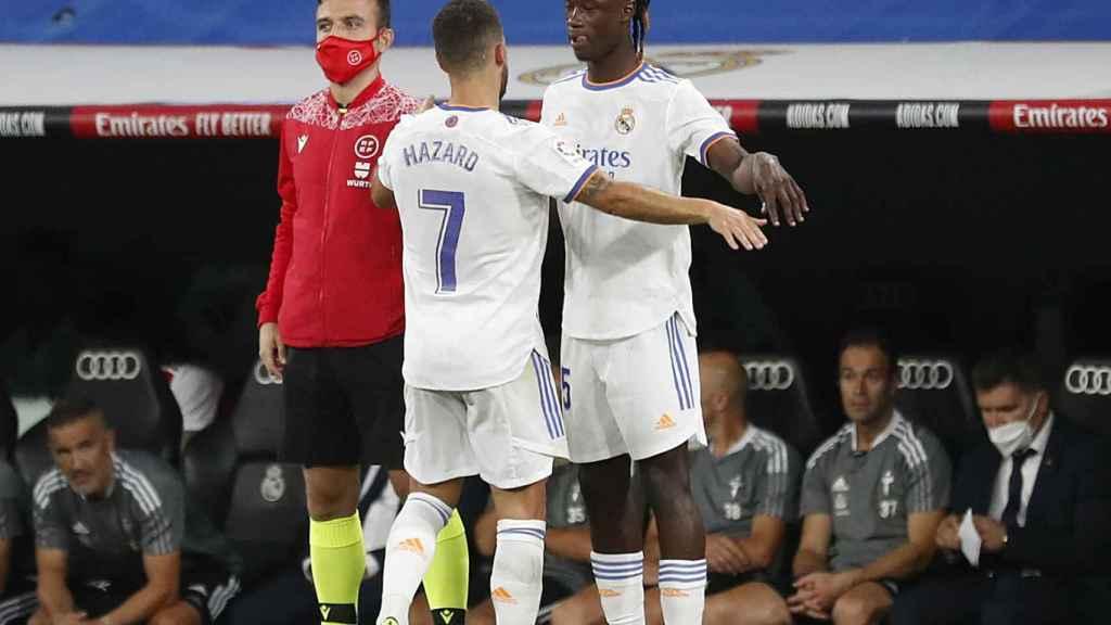 Camavinga debuta en sustitución de Hazard