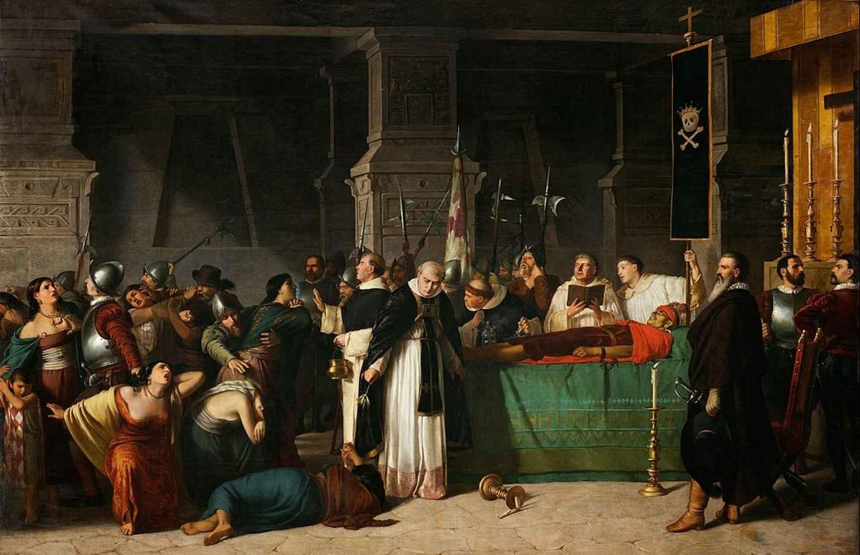 'Los funerales de Atahualpa', de Luis Montero.