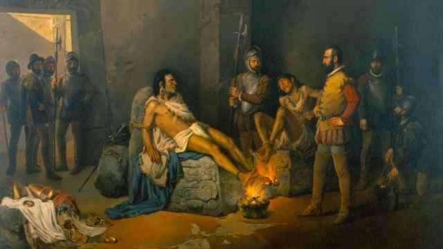 'La prisión de Cuauhtémoc', de Leandro Izaguirre.