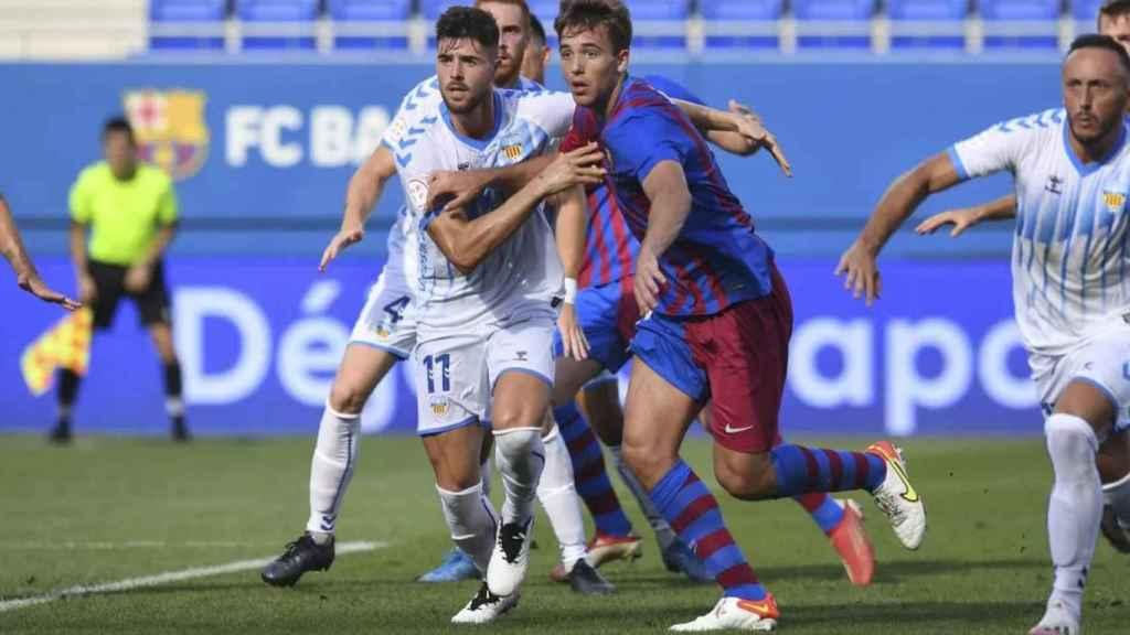Imagen del partido entre el FC Barcelona y el Costa Brava