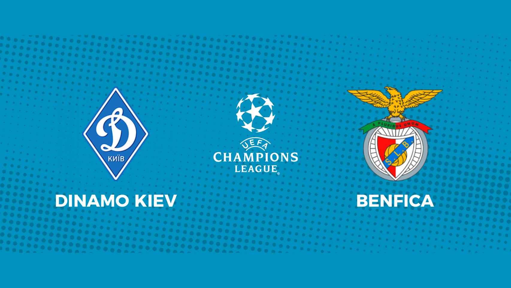 Dinamo de Kiev - Benfica: siga en directo el partido de la Champions League