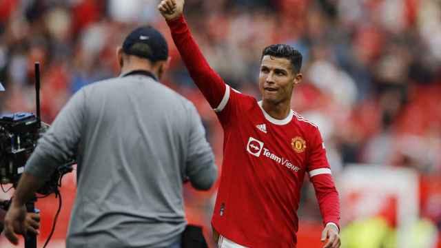 Cristiano Ronaldo tras su debut con el Manchester United