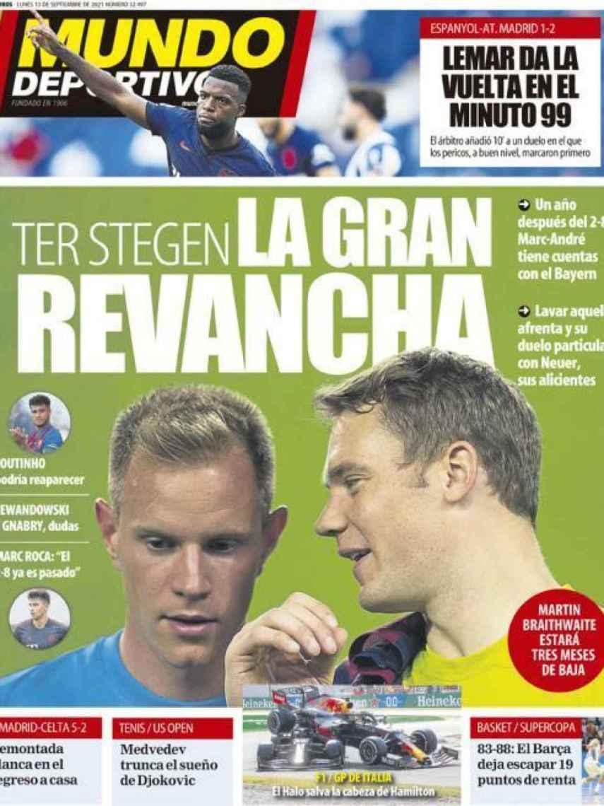 La portada del diario Mundo Deportivo (13/09/2021)