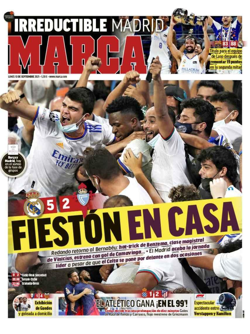 La portada del diario MARCA (13/09/2021)