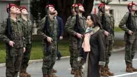 Imagen de archivo de Margarita Robles en la Academia de Infantería de Toledo. Foto: Óscar Huertas