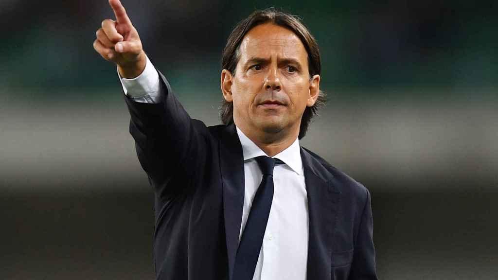 Inzaghi, dirigiendo al Inter de Milán