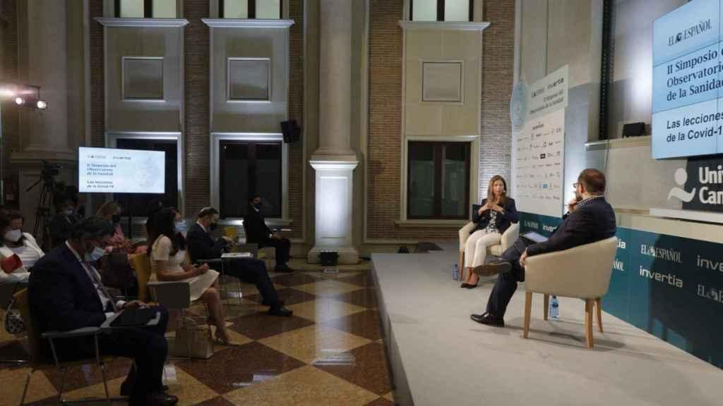 Momento de la charla de María Jesús Lamas.