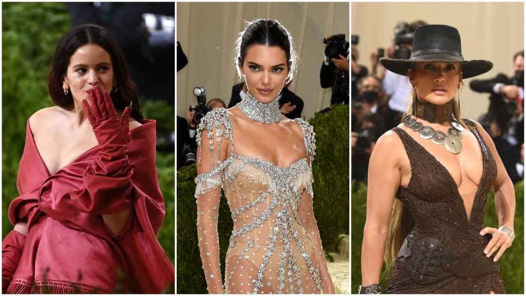Rosalía, Kendall Jenner y Jennifer Lopez fueron algunas de las más destacadas de la noche en Nueva York.