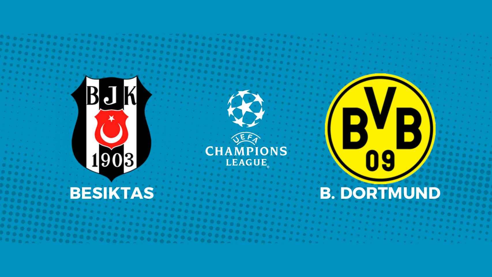 Besiktas - Borussia Dortmund: siga en directo el partido de la Champions League