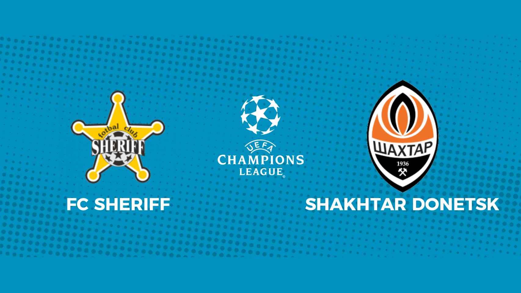 FC Sheriff - Shakhtar Donetsk: siga en directo el partido de la Champions League