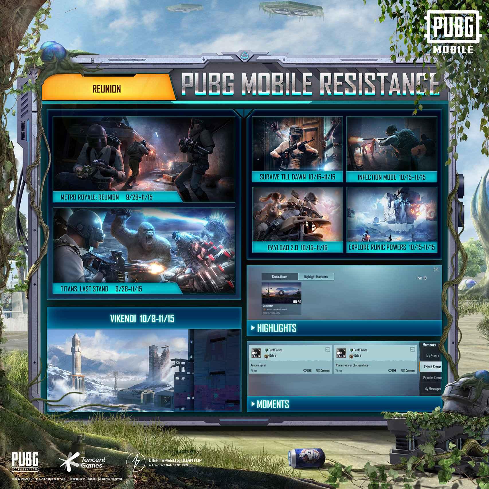 Vuelta de modos y mapas en PUBG Mobile