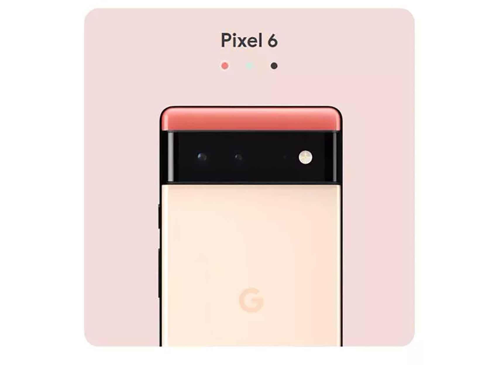 El Google Pixel 6 así se ve en la landing page