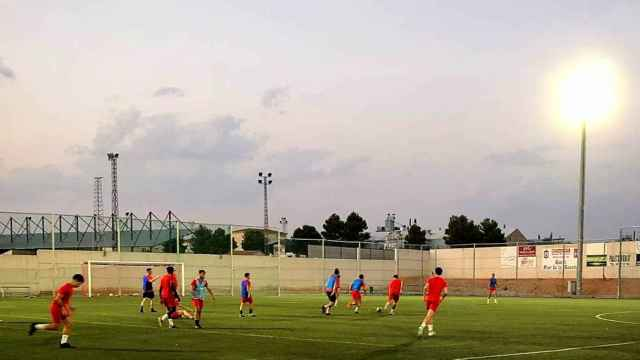 Entrenamiento de La Roda. Foto: La Roda CF