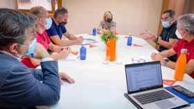 La coordinadora de Cs en Castilla-La Mancha, Carmen Picazo, reunida con informáticos del Sescam