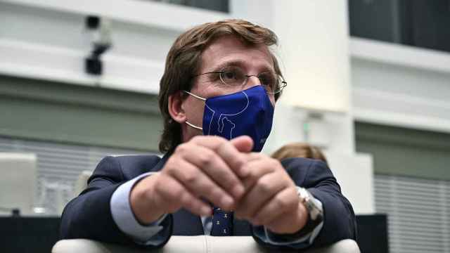 José Luis Martínez-Almeida, este martes en el pleno del Ayuntamiento de Madrid.