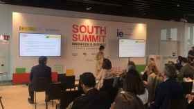 La fundadora de Spain Startup-South Summit, María Benjumea, en la presentación del Mapa del Emprendimiento