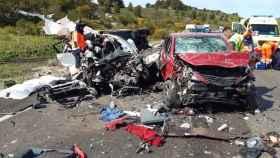 Imagen de un accidente de tráfico en Málaga.