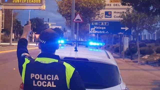 La Policía Local de Vélez Málaga, de servicio.