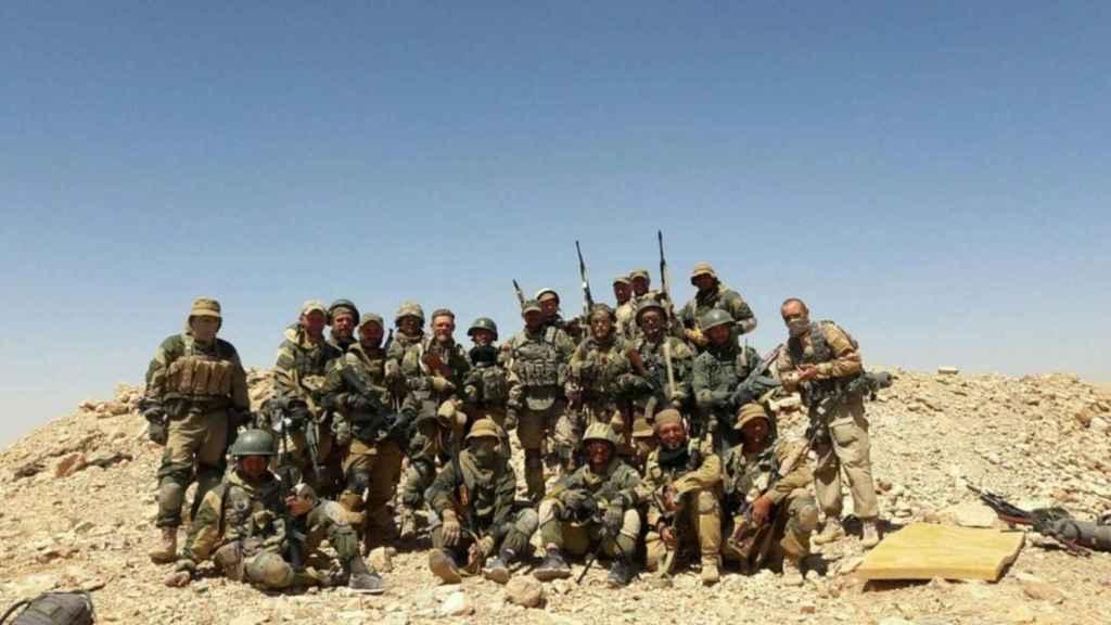Grupo de mercenarios de la compañía Wagner Group.