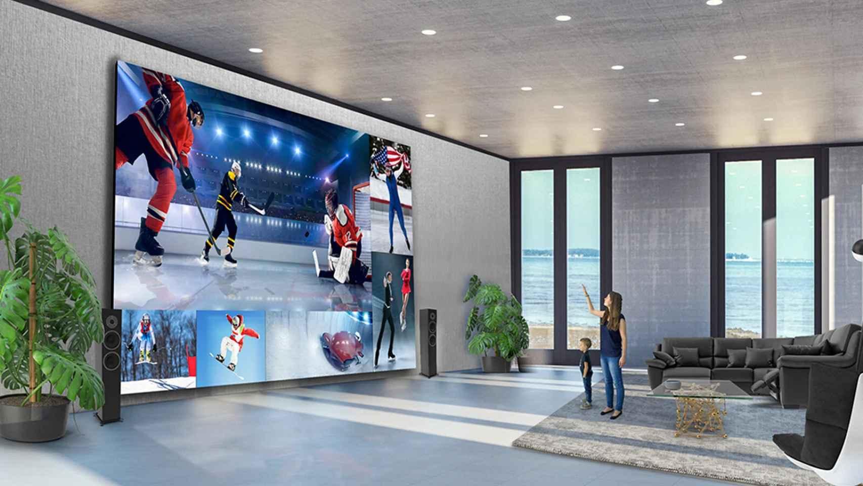 El televisor gigante de LG: 325 pulgadas para montar, de verdad, un cine en casa