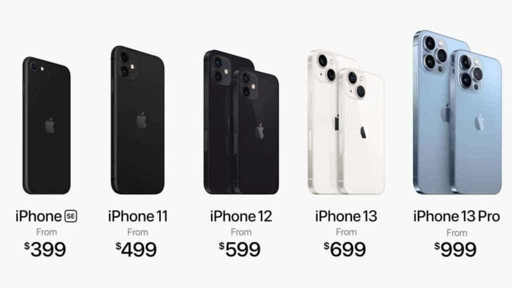 Precios en Estados Unidos de los iPhone.
