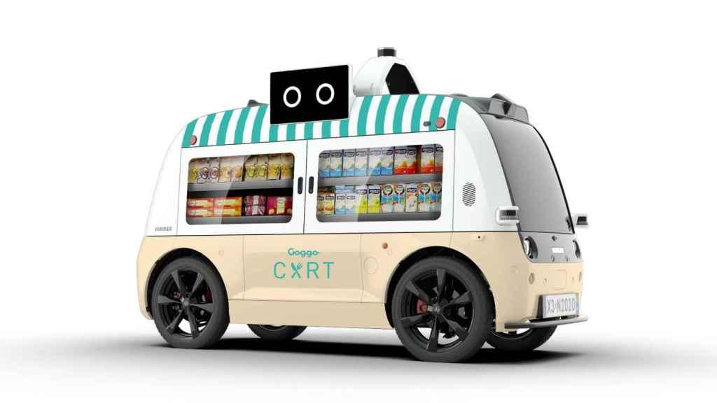 El coche autónomo que te lleva la comida a casa