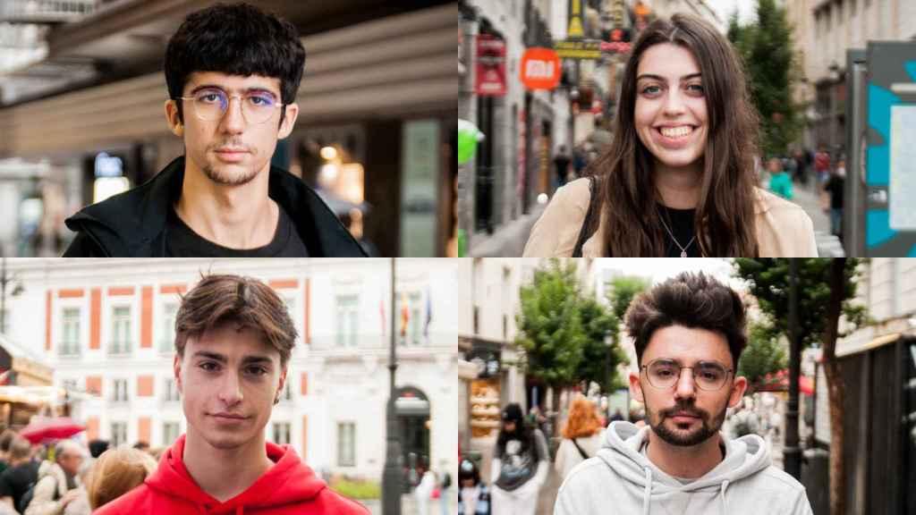 De izquierda a derecha y de arriba a abajo: Diego, Paula, Sergio y Carlos.