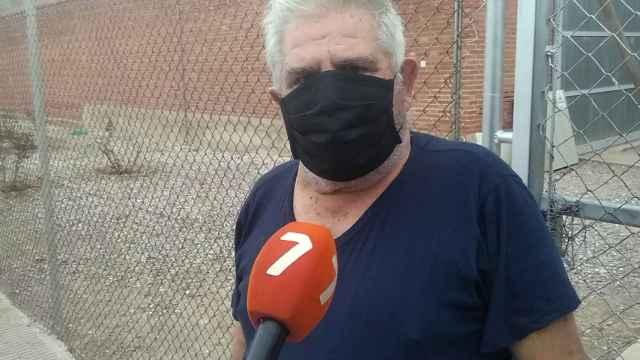 Pepe 'El Melón' a su salida de la cárcel de Sangonera la Verde en Murcia.