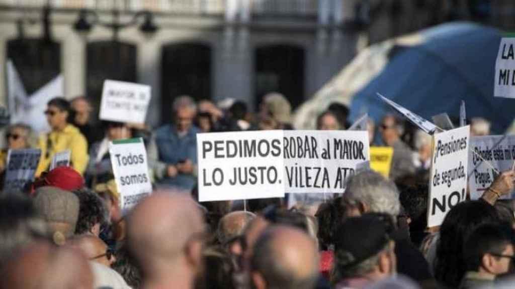 Imagen de archivo de una manifestación de pensionistas