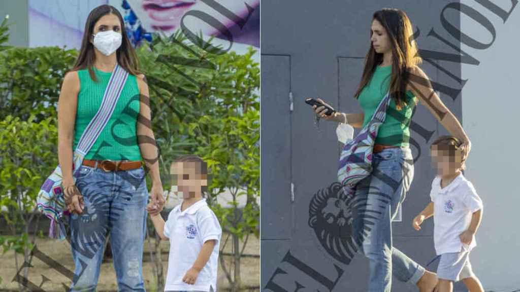 Elena Furiase ha estado pendiente de su hijo en todo momento.