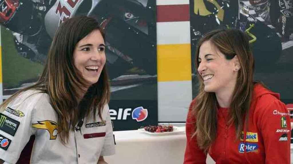 Amaia Arguiñano y Andrea Canto, en una entrevista de Movistar.