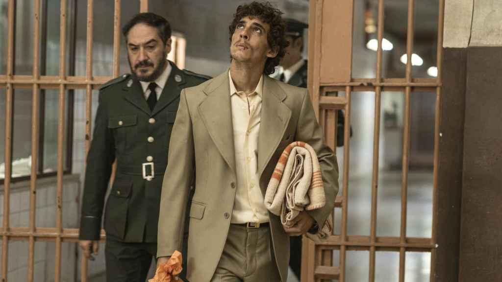 Miguel Herrán en las primeras imágenes de la película 'Modelo 77'.