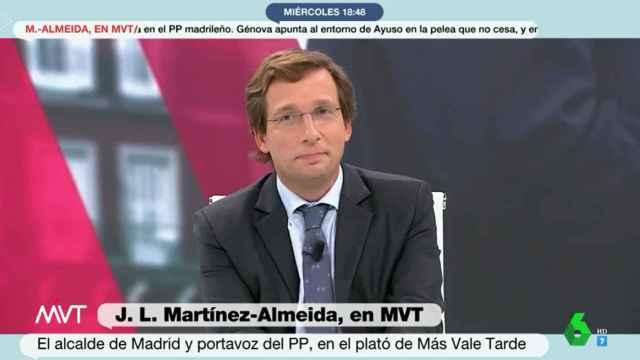 José Luis Martínez-Almeida, en La Sexta.